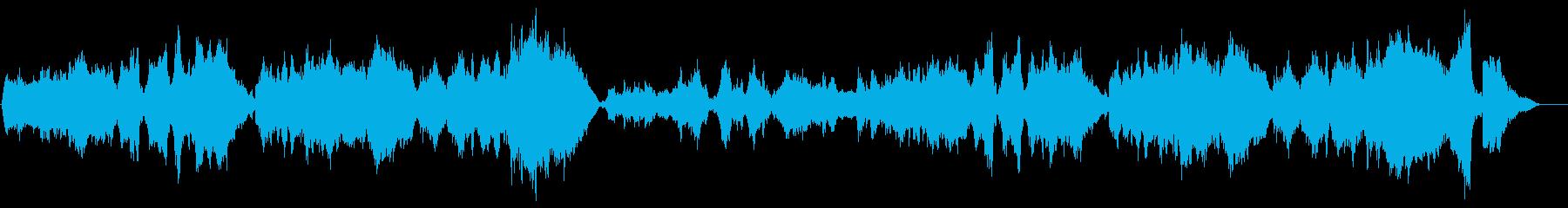 映画風ムーディーなオーケストラの再生済みの波形