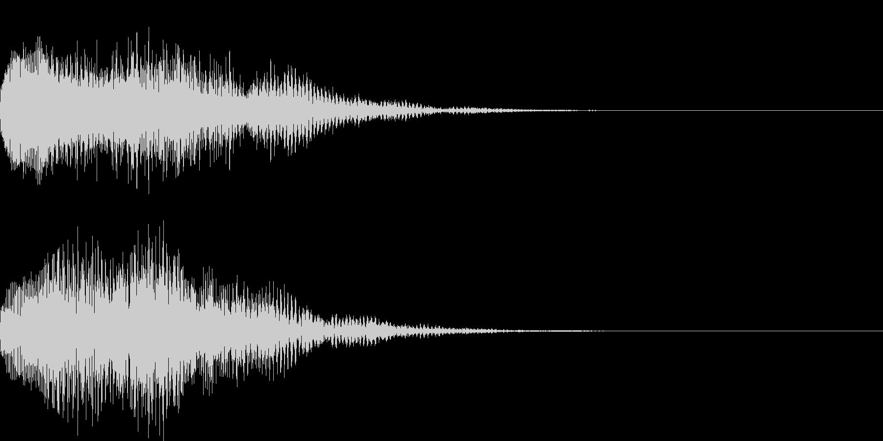 アイテム獲得音04の未再生の波形