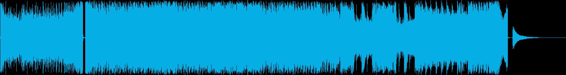 CM、疾走、ドライブ感ダンスロックの再生済みの波形