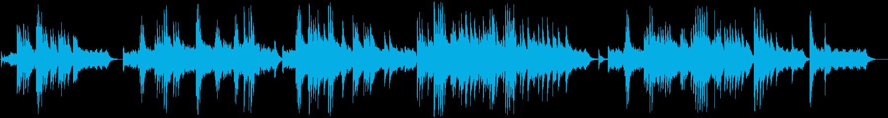 ドラマチックで少し切ないピアノ曲の再生済みの波形