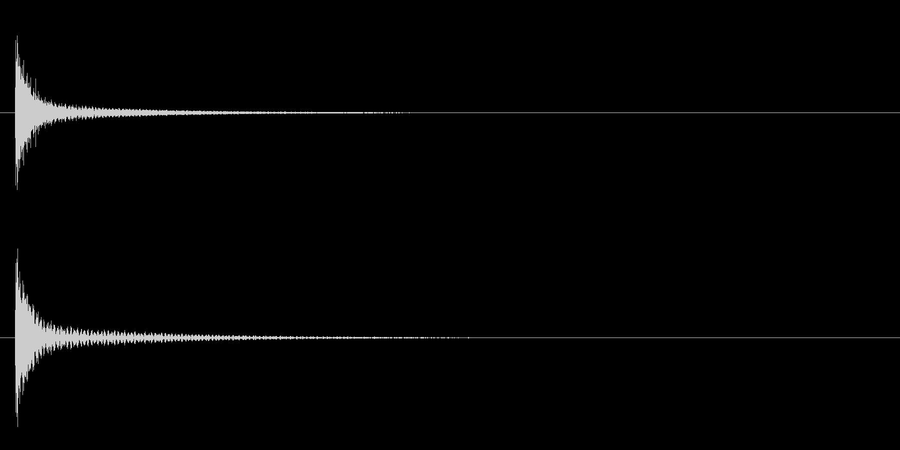 ゴング 2の未再生の波形