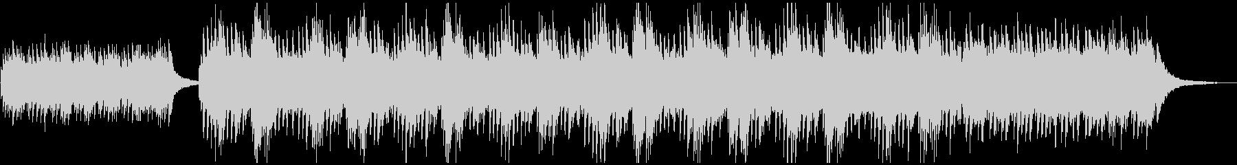 神秘的ピアノのアンビエントの未再生の波形