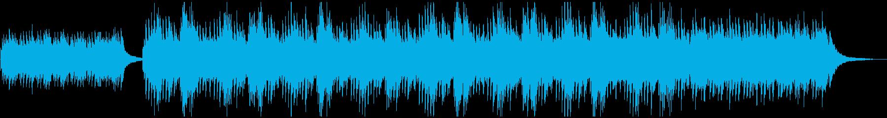 神秘的ピアノのアンビエントの再生済みの波形