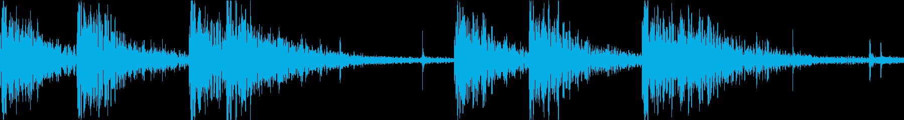 盆踊りのシンプルな和太鼓ループの再生済みの波形