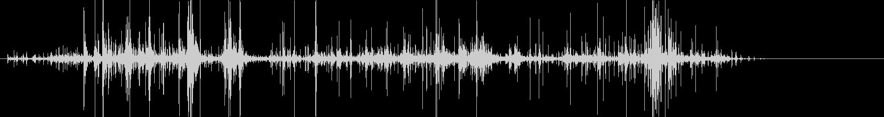 メリメリと引き千切る音の未再生の波形