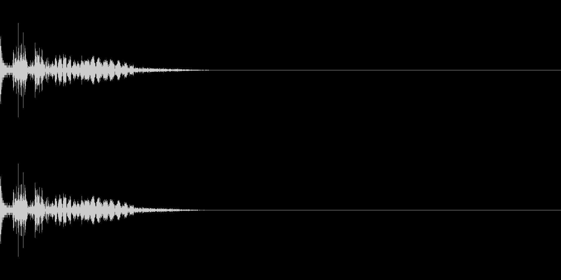 ドン ドシャ 打撃音 物理攻撃 衝撃の未再生の波形
