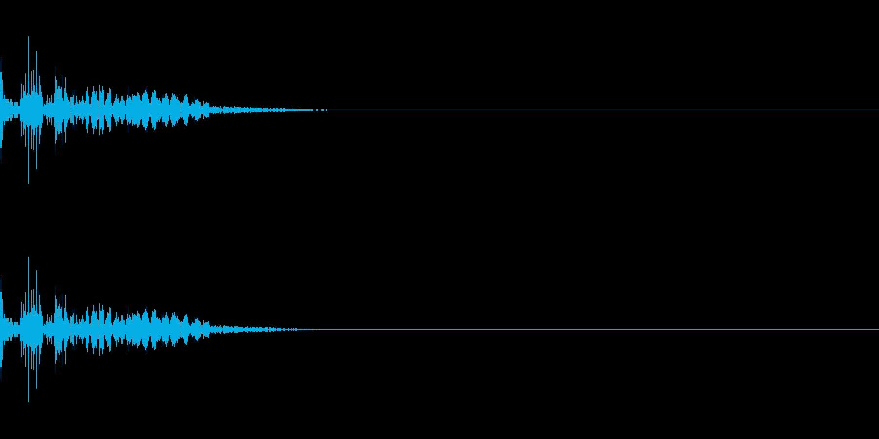 ドン ドシャ 打撃音 物理攻撃 衝撃の再生済みの波形