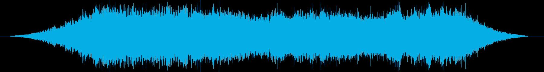 【環境音】真夏の蝉の鳴き声〜お昼〜の再生済みの波形