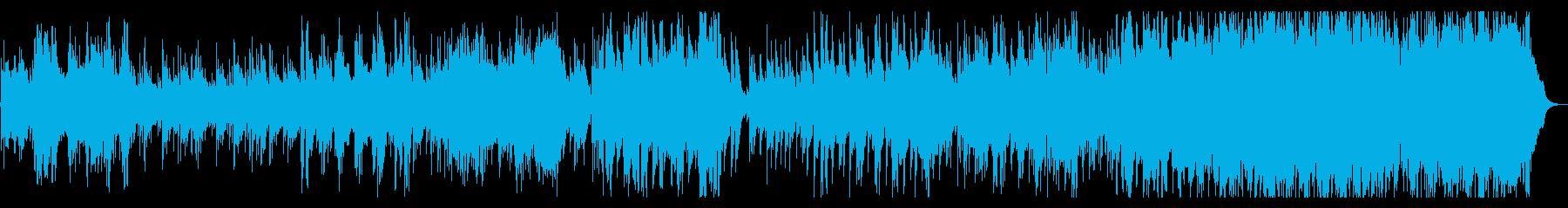 温かみのあるアコギとハーモニカの再生済みの波形