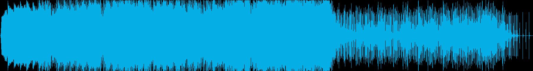 シンセサイザー、スロー、BGMの再生済みの波形