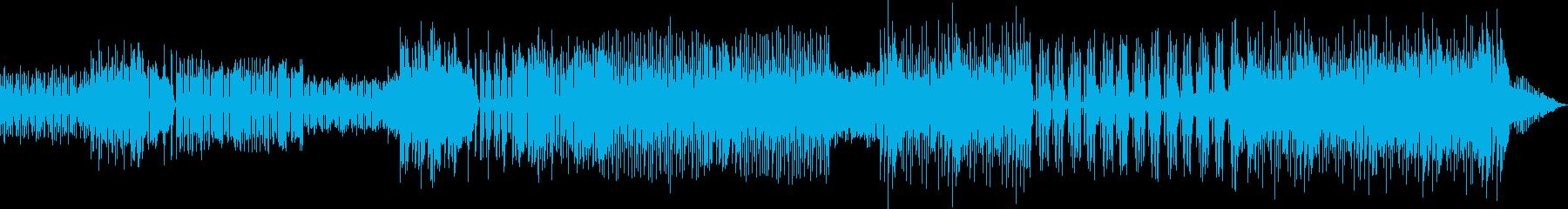 チップチューン風インストゥルメンタルの再生済みの波形