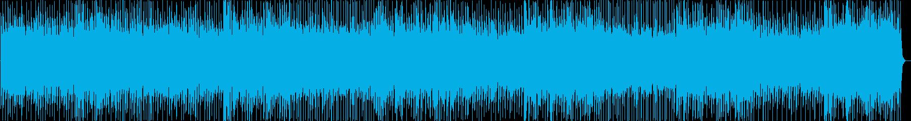ニュース原稿読みBGM。エレクトロハウスの再生済みの波形