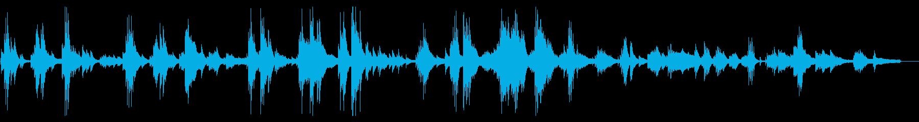 心あたたまるピアノインストバラードの再生済みの波形