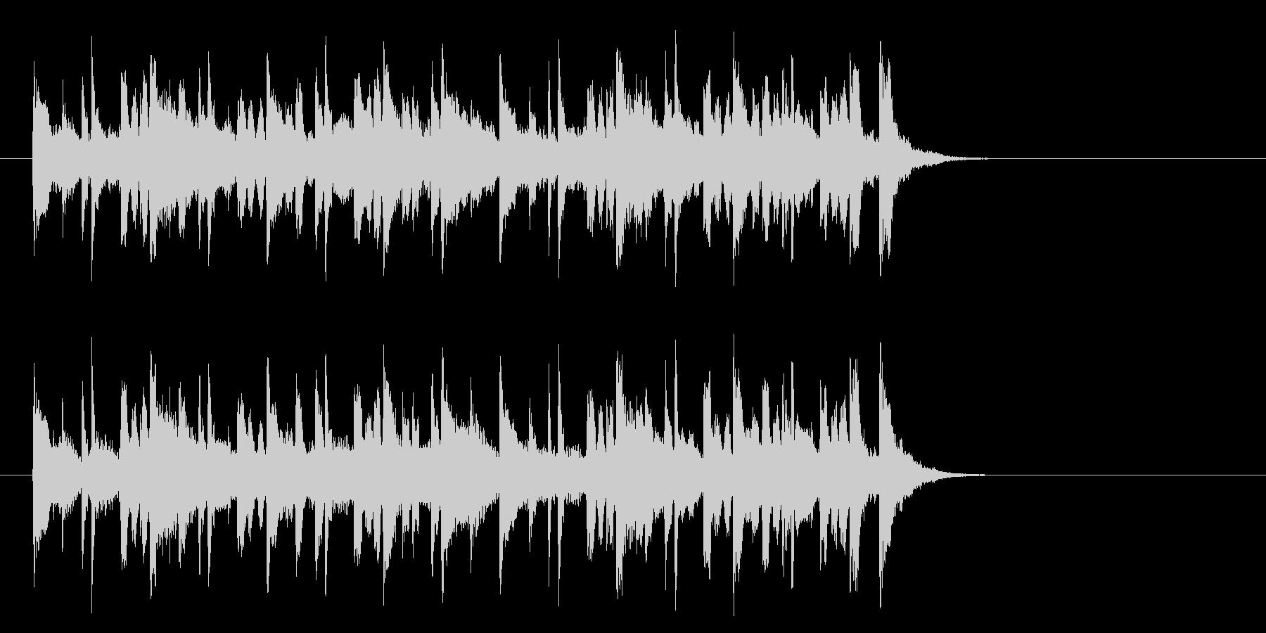 牧場のメルヘンなポップス(Aメロ)の未再生の波形