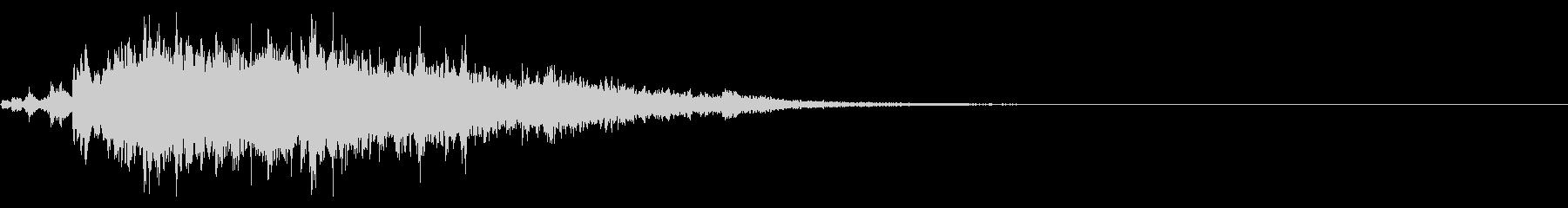 不気味な雰囲気の神楽鈴の連続音の未再生の波形