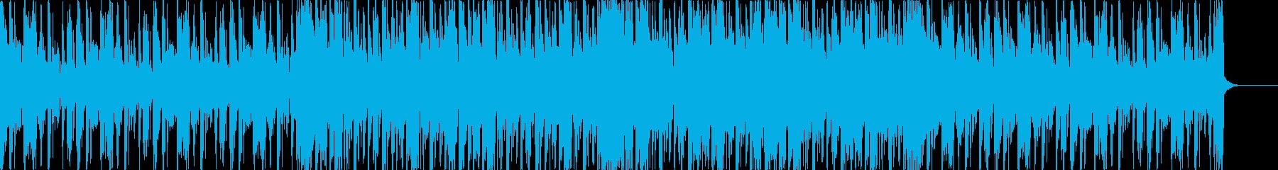 グリッチな感じのブレイクビーツの再生済みの波形