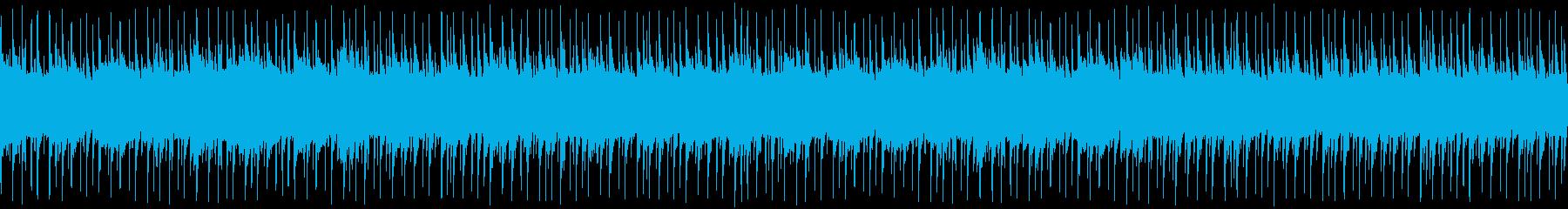 クール系インスト楽曲の再生済みの波形