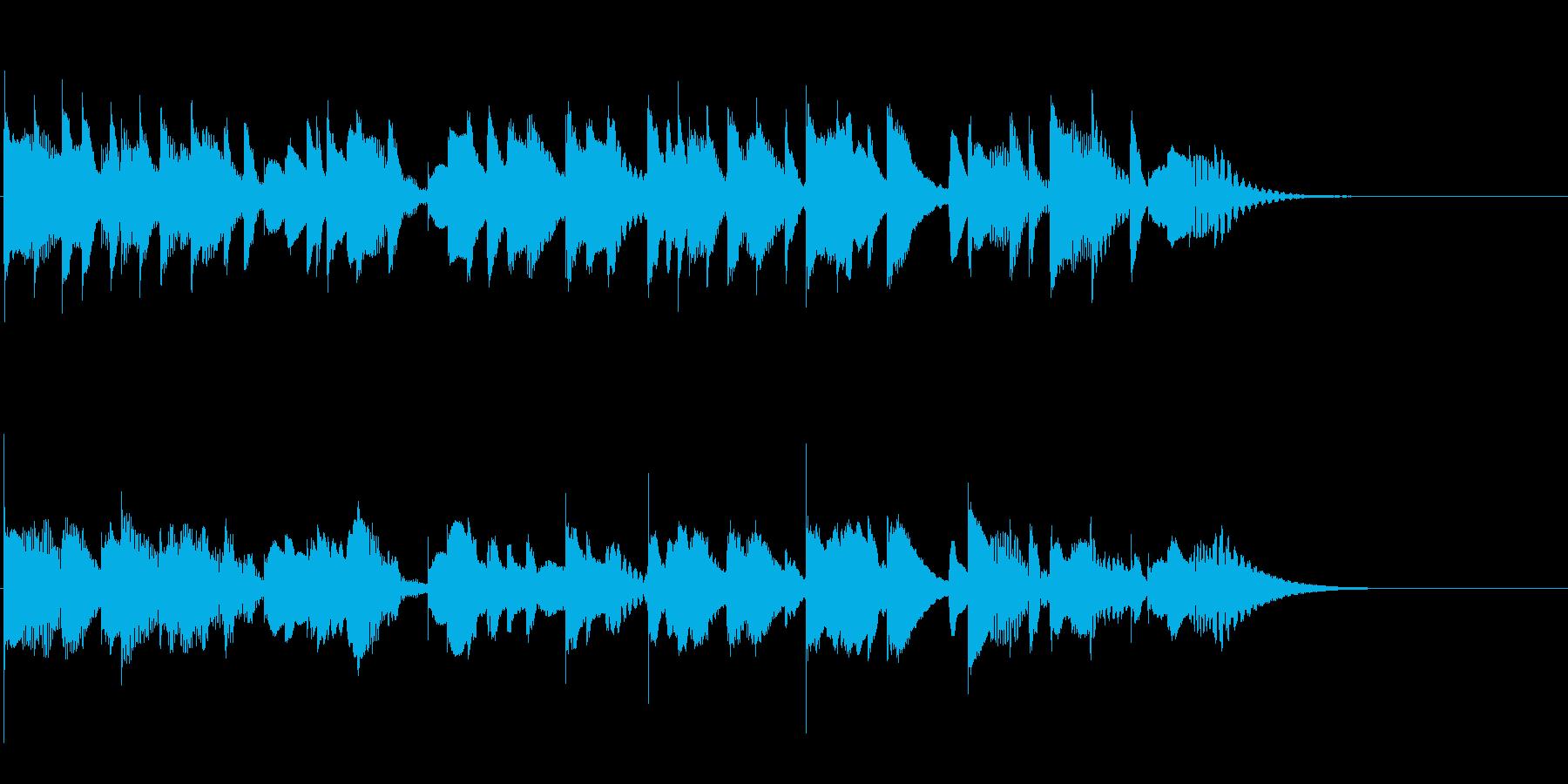 切ないけれど暖かいメロディのマリンバの再生済みの波形