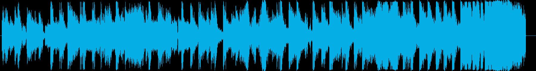 15秒に収まった使いやすいEDMジングルの再生済みの波形