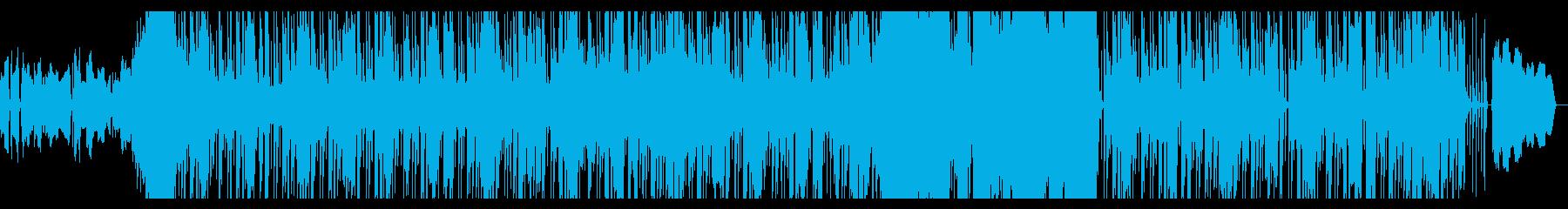 短いけれども身体を揺らせる曲の再生済みの波形