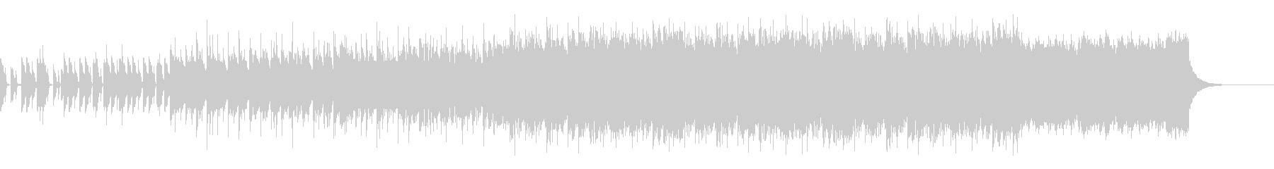 ノイジーなベースが目立つBGMの未再生の波形