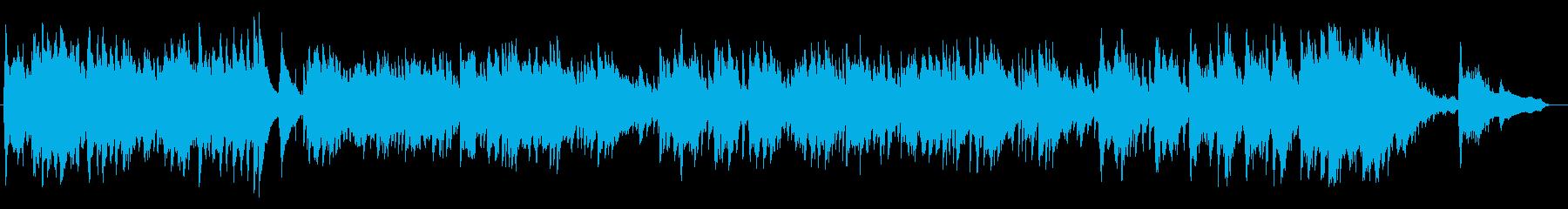 綺麗で感動的なピアノによるバラードの再生済みの波形