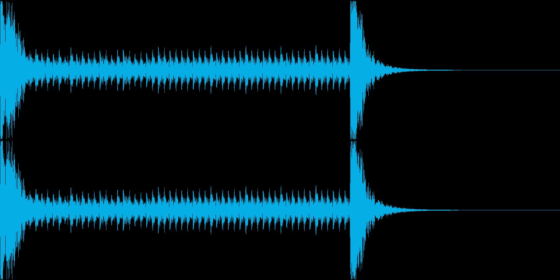 和風ドラムロール[和太鼓、鼓]10秒_2の再生済みの波形