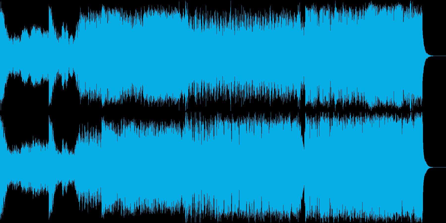 エピックヴォーカライズとボーイズクワイヤの再生済みの波形