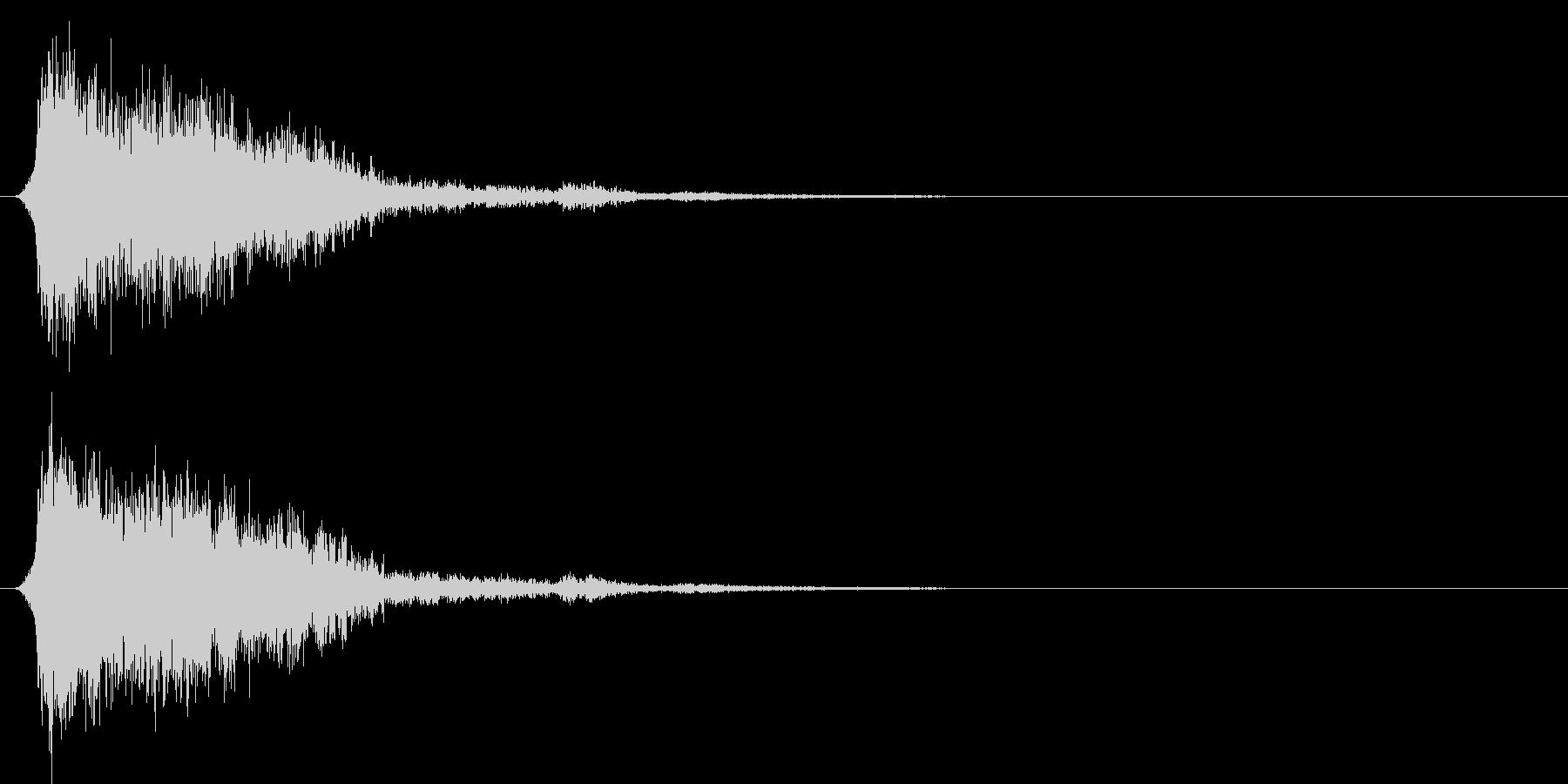 コミカルなダッシュ!ジャンプの効果音04の未再生の波形