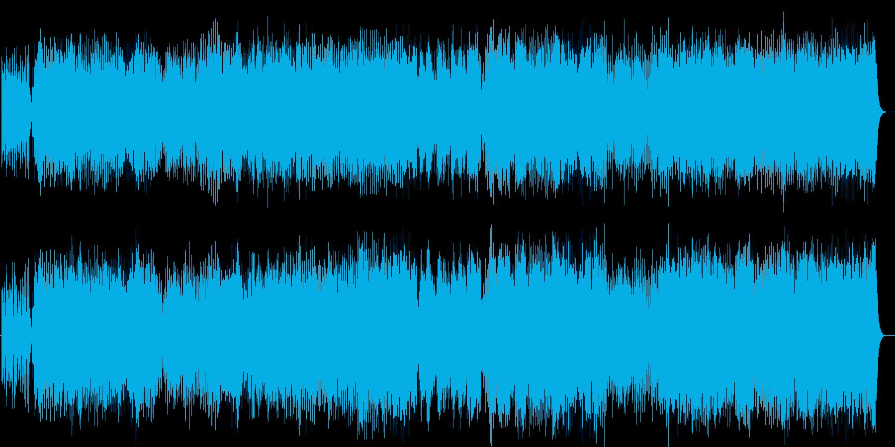 明るく爽快で穏やかなサウンドの再生済みの波形
