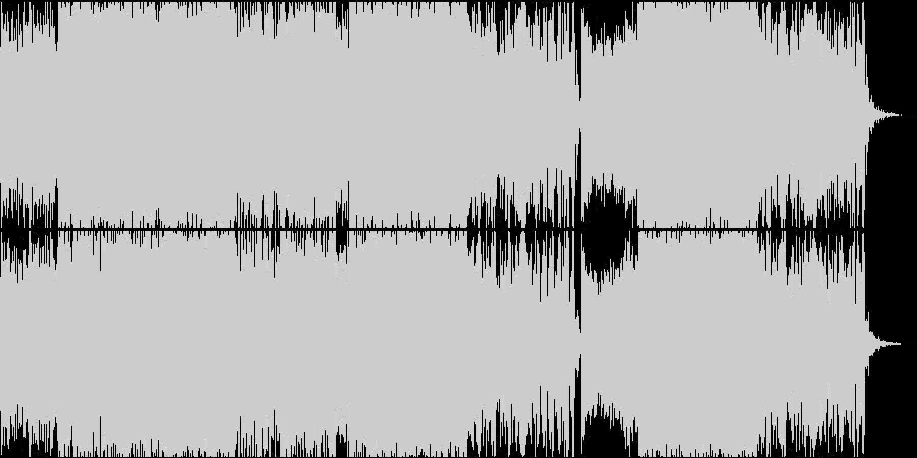 途中変拍子展開のあるトランスバトル曲の未再生の波形