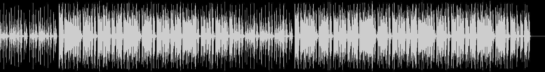 グルーヴィでダンサンブルなファンクの未再生の波形