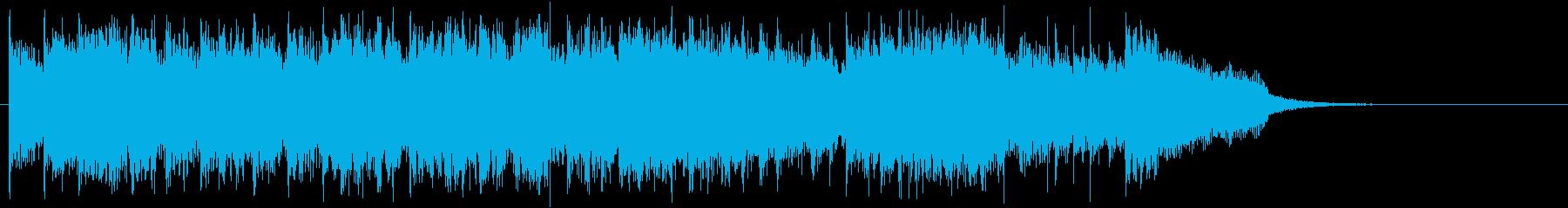 若いゴスニューウェーブ風ジングルの再生済みの波形