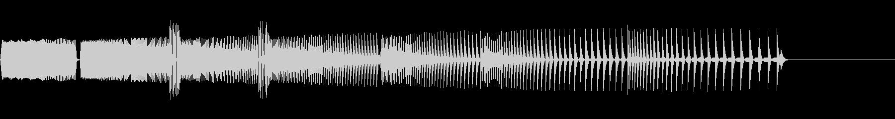 ゲームオーバーに最適な音の未再生の波形