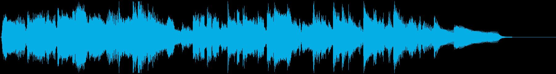 15秒CM用テンポ良いウキウキしたジャズの再生済みの波形