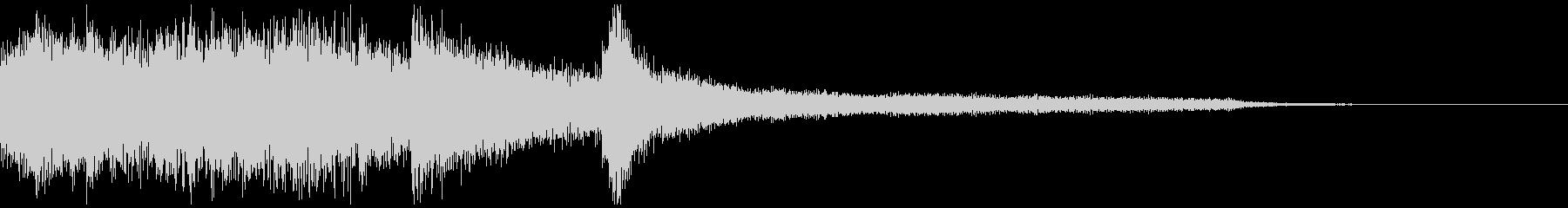 独特なピアノジングルの未再生の波形