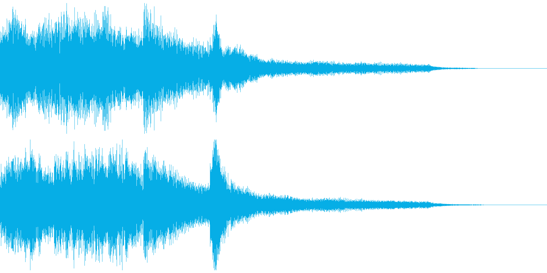 独特なピアノジングルの再生済みの波形