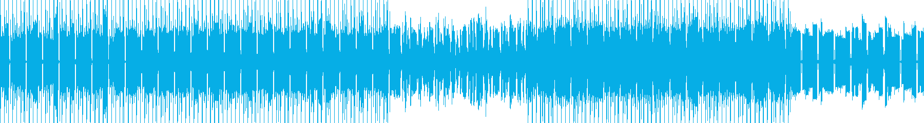 サイバー、宇宙、未来感のある電子的BGMの再生済みの波形