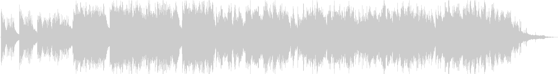 弦とピアノのゆったりとしたオーケストラの未再生の波形