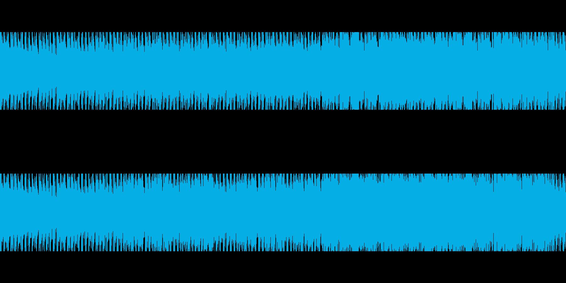 ちょっとリズミカルに潜るようなBGMの再生済みの波形