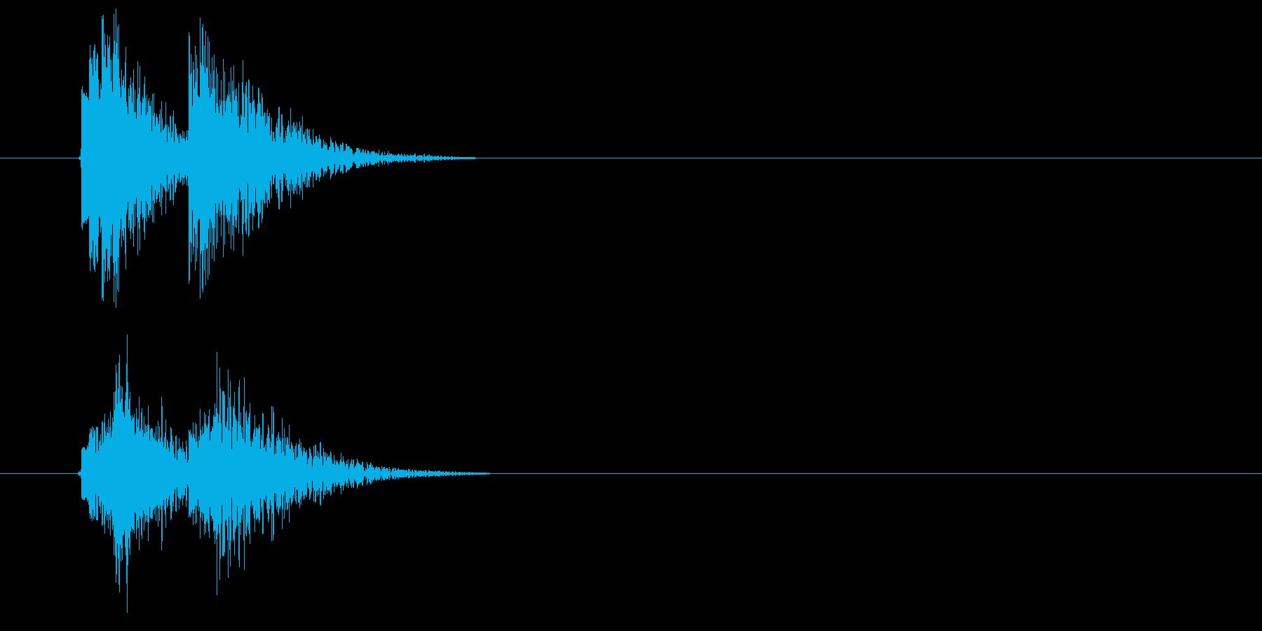 邦楽_アクセント_三味線の再生済みの波形