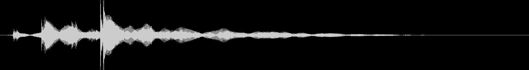 【クリスタルな音】Byエレキギターの未再生の波形