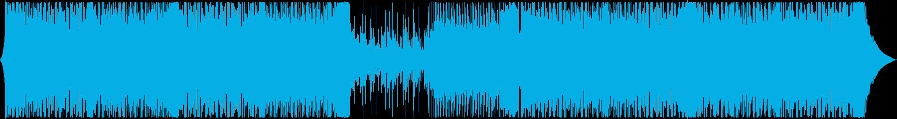 CMやリズムゲームにアップテンポEDMの再生済みの波形