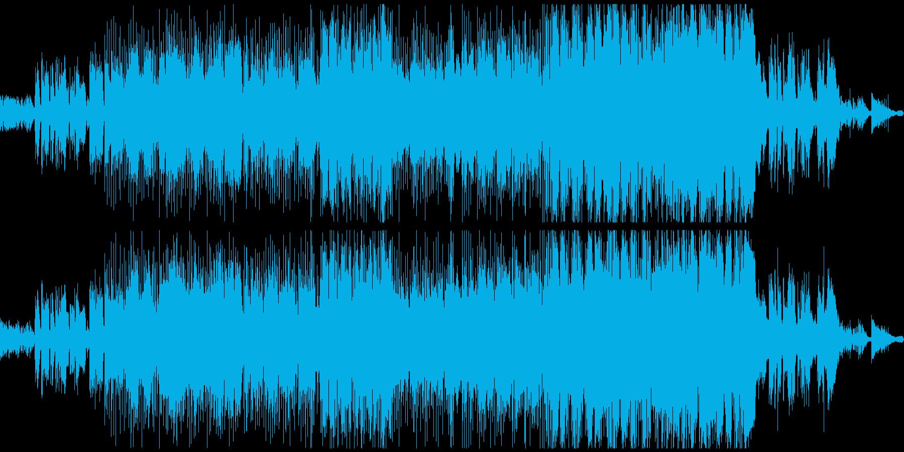 悶々とした中学生時代を表現する卒業ソングの再生済みの波形