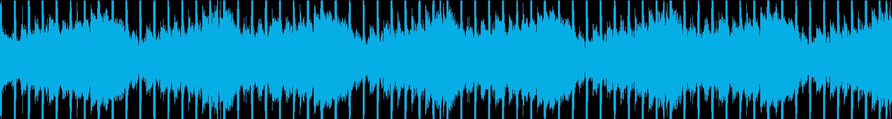 幻想的な四つ打ち曲ループ仕様の再生済みの波形