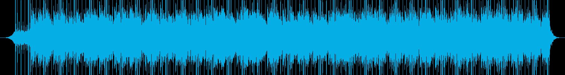 透明で浮遊感のあるピアノとシンセのBGMの再生済みの波形