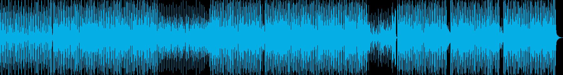 ディスコ風ファンキーなダンスナンバーの再生済みの波形