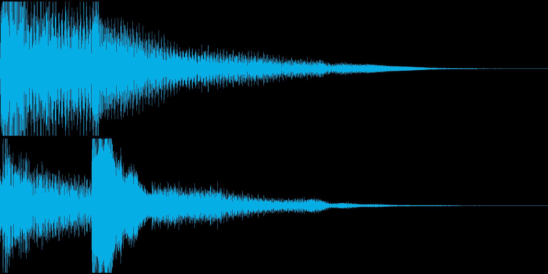 不吉な予感(ピアノ音)の再生済みの波形