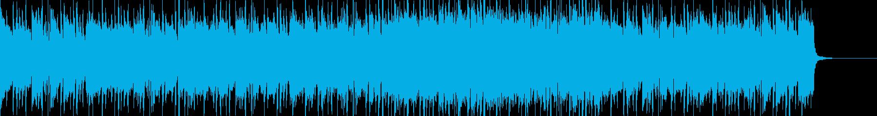 ハードロック系のリフの再生済みの波形