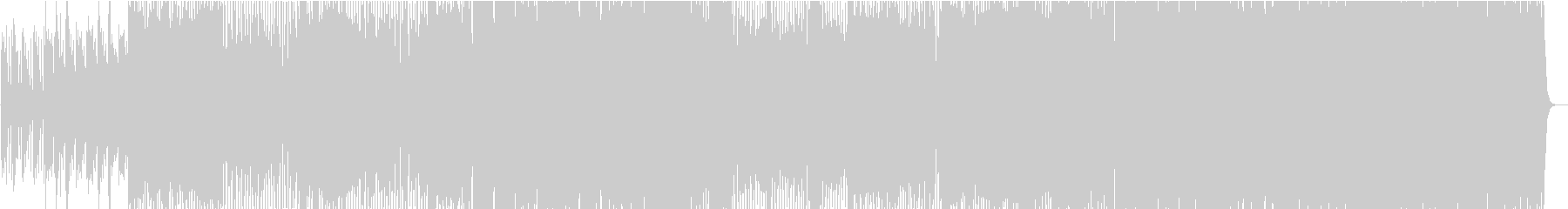 ドラムのビートがダンサブルなナンバーの未再生の波形